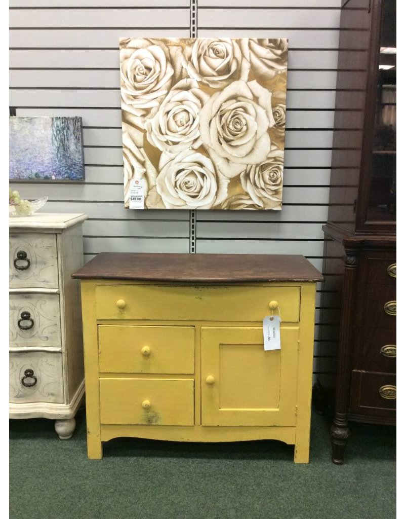 Two Tone Apricot Painted Washstand