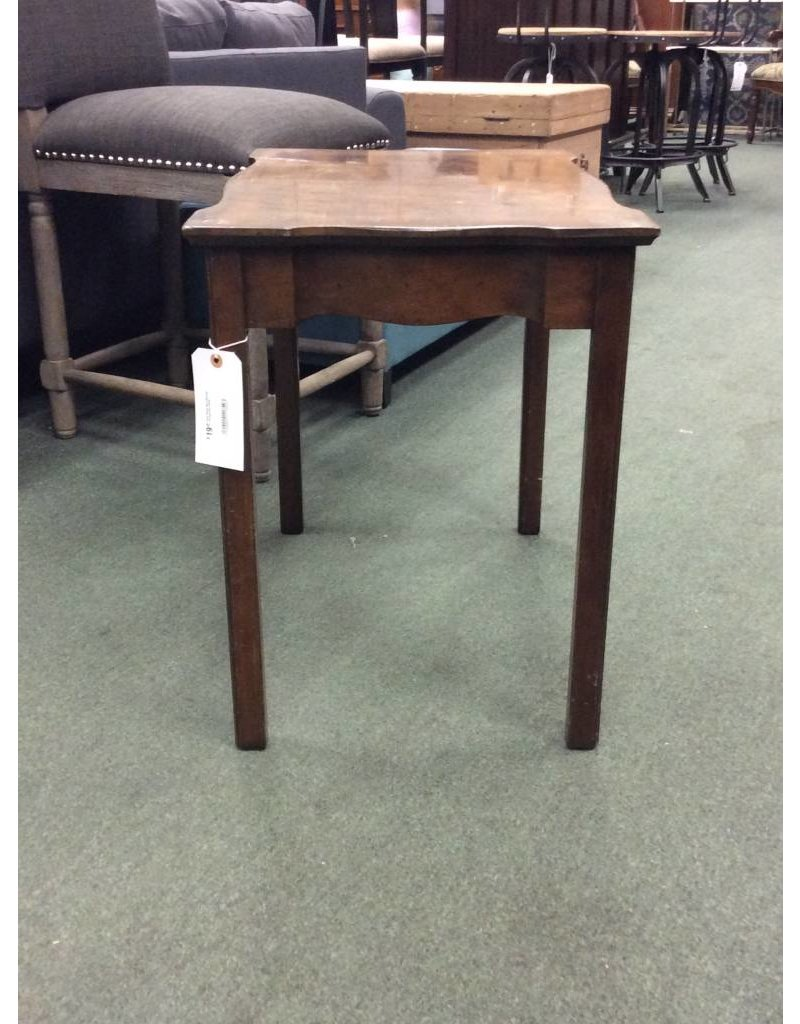 Solid Wood Dark Stained Vintage End Table