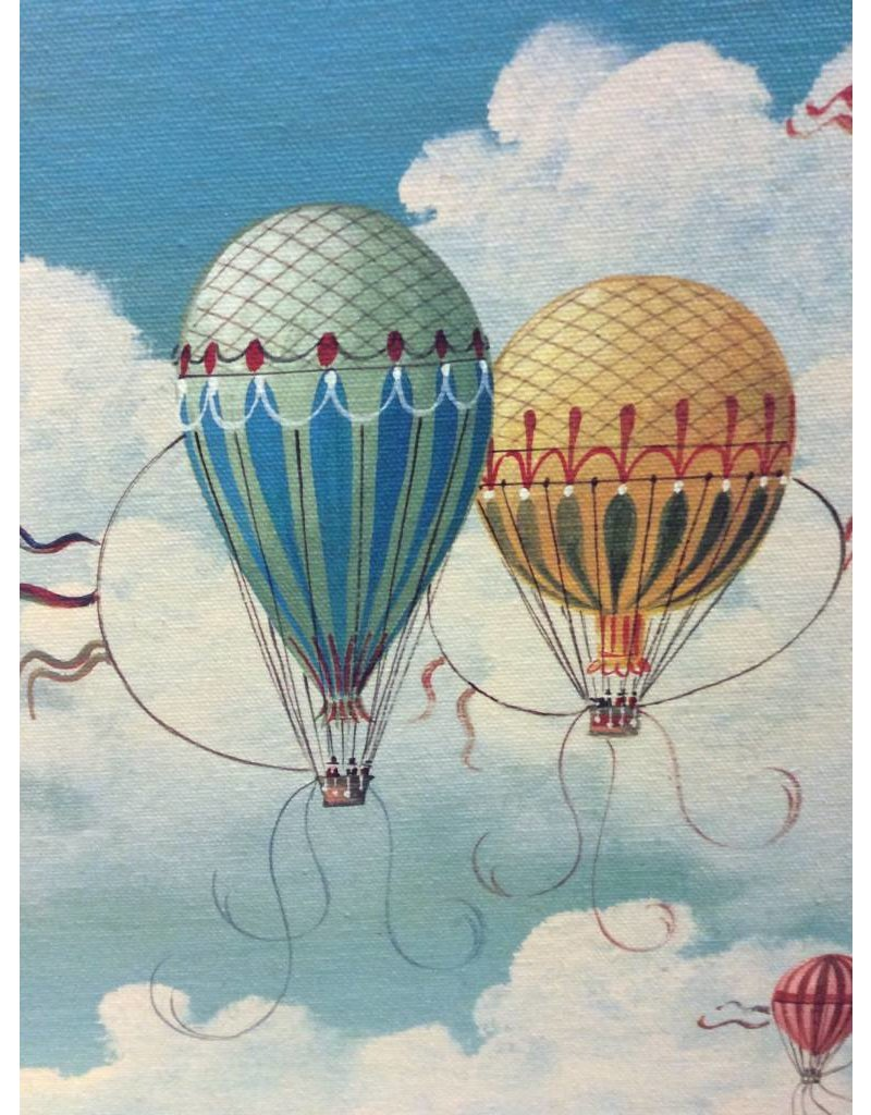 Ballooning Over Paris Vintage Print