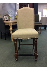 "Three Posts Lansboro 26"" Beige Upholstered Bar Stool"