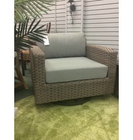 TK Classics Florence Gray Washed Wicker Armchair w Cushions