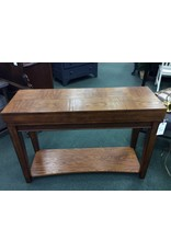 Oak Console w/ Fold-Out Desk