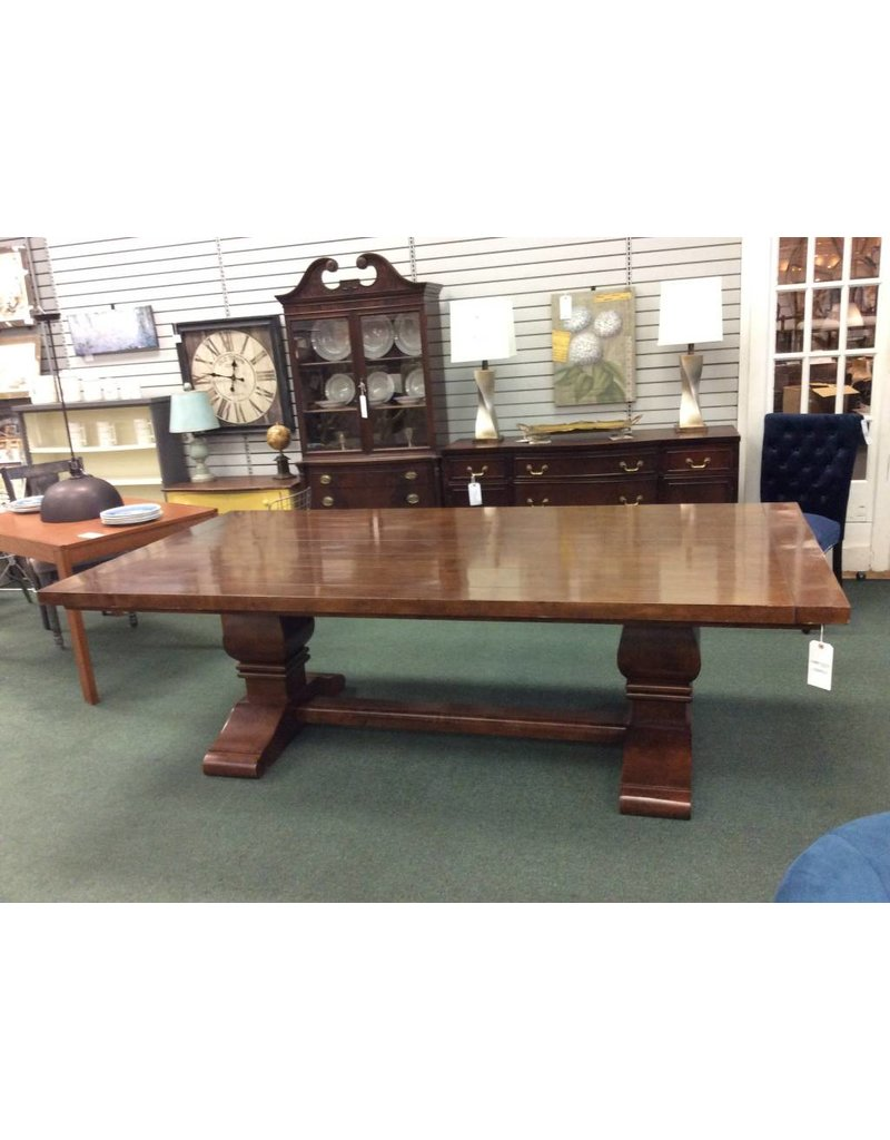 Solid Wood Dining Set: Table, 2 Host Chairs, 4 Side Chairs