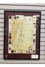 Napa Valley Winery Map Matted and Framed