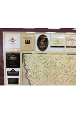 Sonoma Winery Map Matted and Framed