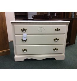 White Dresser w/ Three Drawers