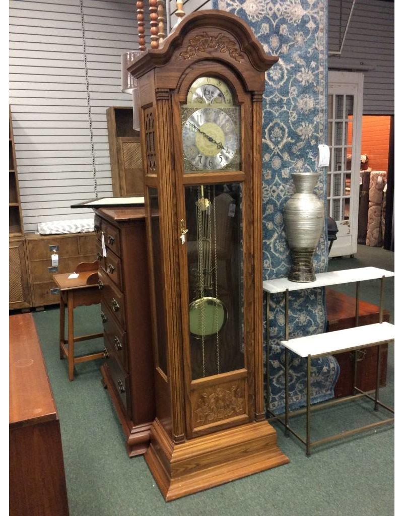 Tall Oak Grandfather Clock