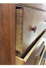 C.1920 Waterfall 4 Drawer Chest of Drawers