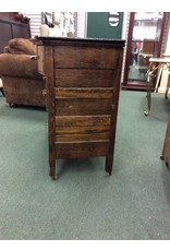 Vintage Dark Oak 4 Drawer Bow Front Dresser