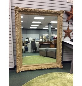 Antique Ornate Gesso framed mirror