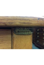Small Light Stained Wooden Student Desk