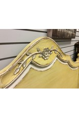 Queen Yellow Distressed Bed