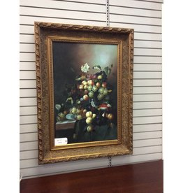 Still Life on Canvas in Ornate Frame