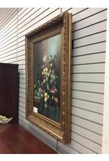 Still Life on Canvas in Ornate Frame