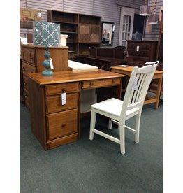 Pine Student Desk w 4 Drawers