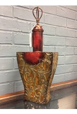 Decorative Metal Urn With Lid