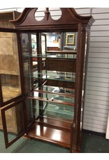 Tall Federal Style Cherry Curio Cabinet