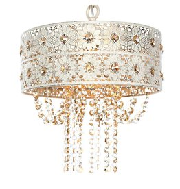 House of Hampton Overton Jeweled Blossoms 1-Light Drum Pendant