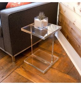 Gus* Modern Small Lucite I-Beam End Table
