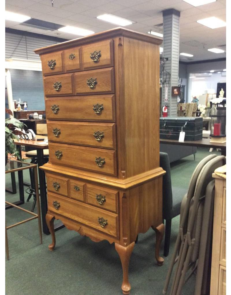 Kincaid Solid Oak Kincaid Highboy Chest w/ Cabriole Legs