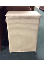 Ivory Wicker Laundry Hamper w/ Lid