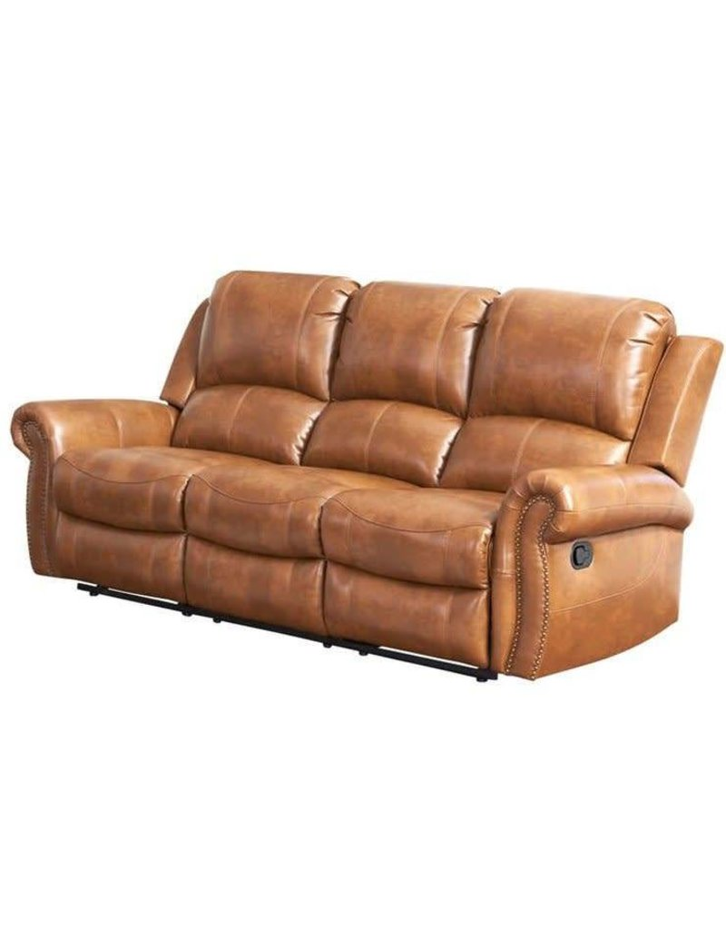Darby Home Co Bitter Root Leather Reclining Sofa