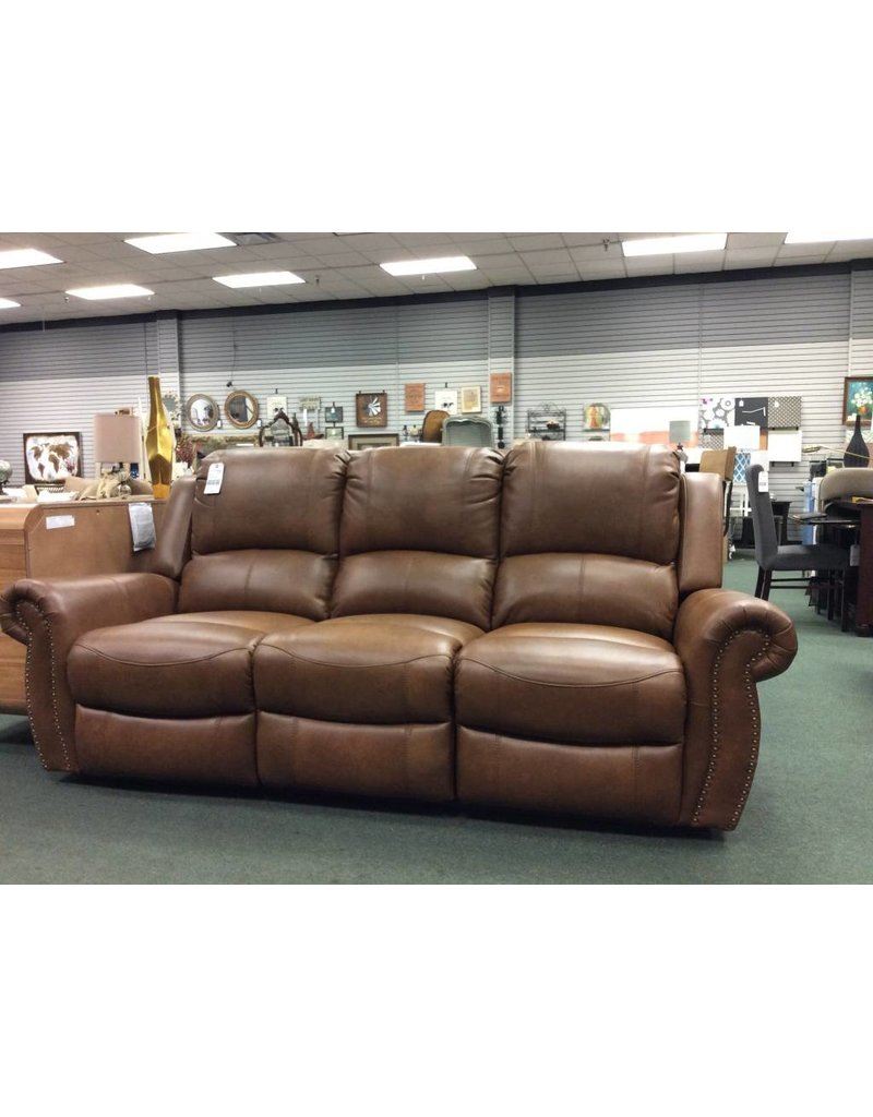 ... Darby Home Co Bitter Root Leather Reclining Sofa ...