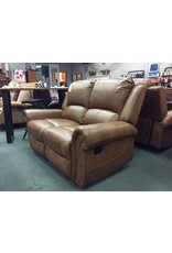 Darby Home Co Bitter Root Leather Reclining Loveseat