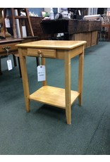 Small Pine 1 Drawer Nightstand