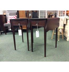 Pair of Vintage Mahogany Drop-Leaf End Tables
