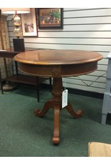 Round Solid Wood Pedestal Table