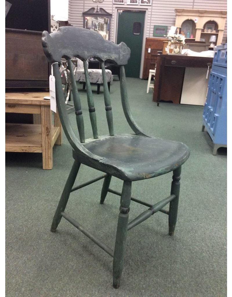 Primitive Green Farm Style Chair ...
