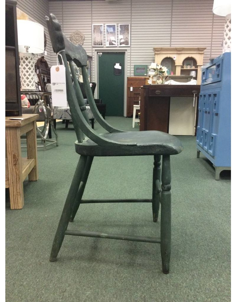 Primitive Green Farm Style Chair
