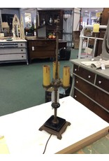 Vintage Candelabra Style Brass Table Lamp