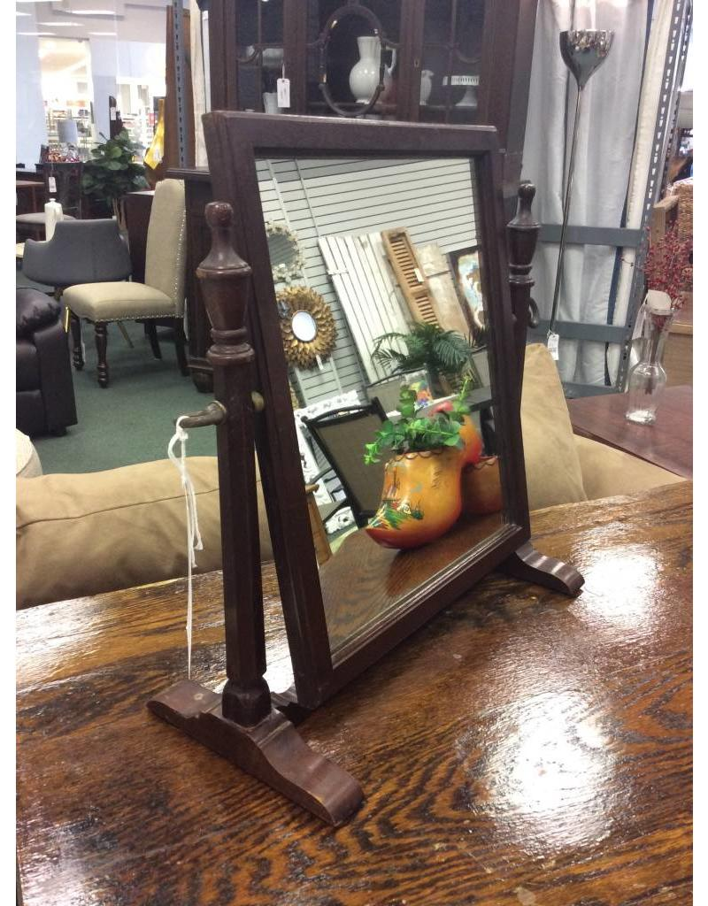 Antique Mahogany Shaving Mirror