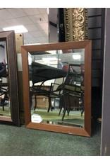 Vintage Wood Framed Beveled Mirror