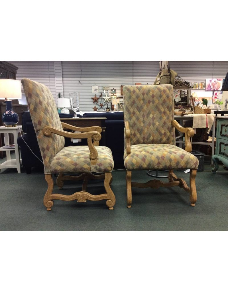 Set of 6 Larage Upholstered Dining Chairs