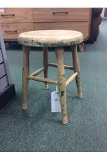Chippy Round Wooden Stool