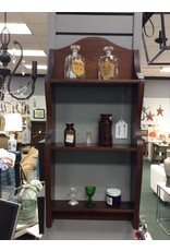Vintage Mahogany Stained Wall Shelf