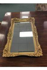 Ornate Gold Gesso Framed Mirrored Tray