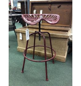 Vintage Tractor Seat Adjustable Height Bar Stool