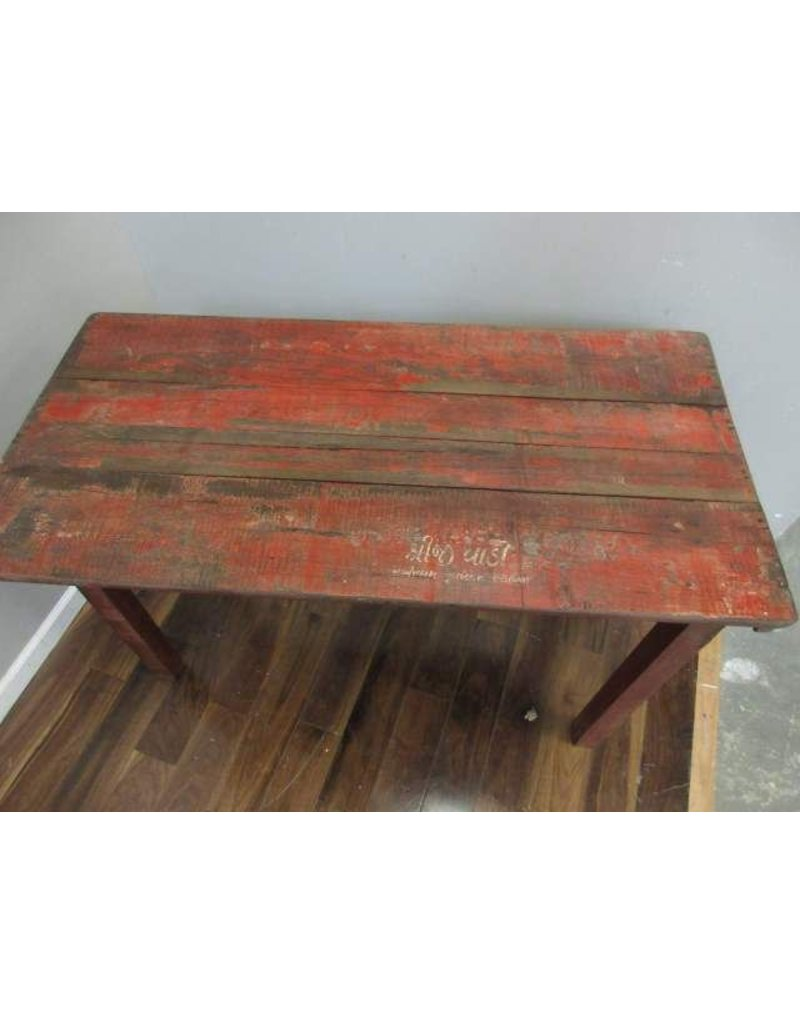 Small Rustic Red Folding Table