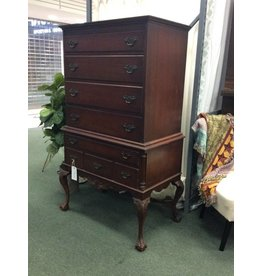 Northern Furniture Company Vintage Mahogany Highboy w Ball and Clawfoot Legs