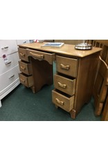 Solid Maple C. 1940 Knee Hole Desk and Matching Chair