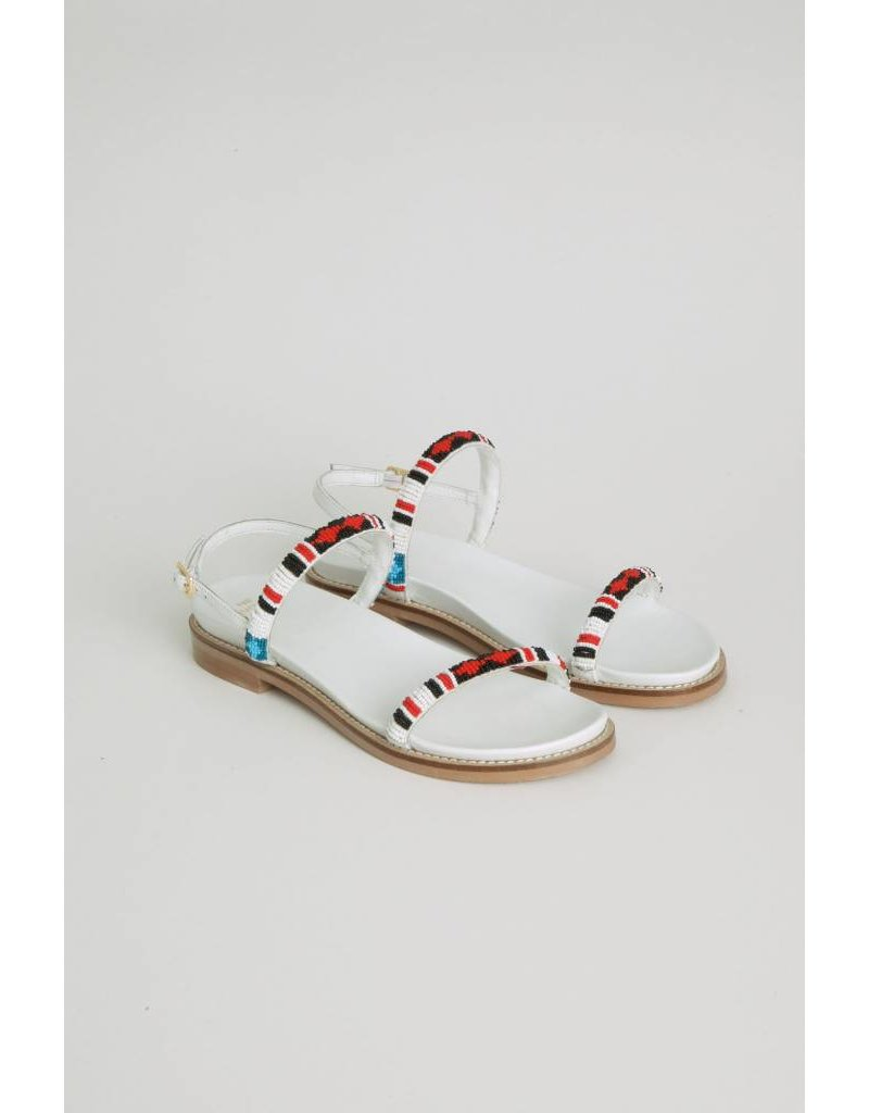 Ne Quittez Pas Beaded Sandals