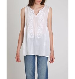 Ne Quittez Pas Voil Embroidered Top