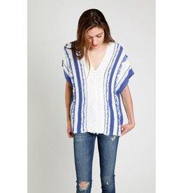 Sita Murt Blue Knitted V Nk Pullover