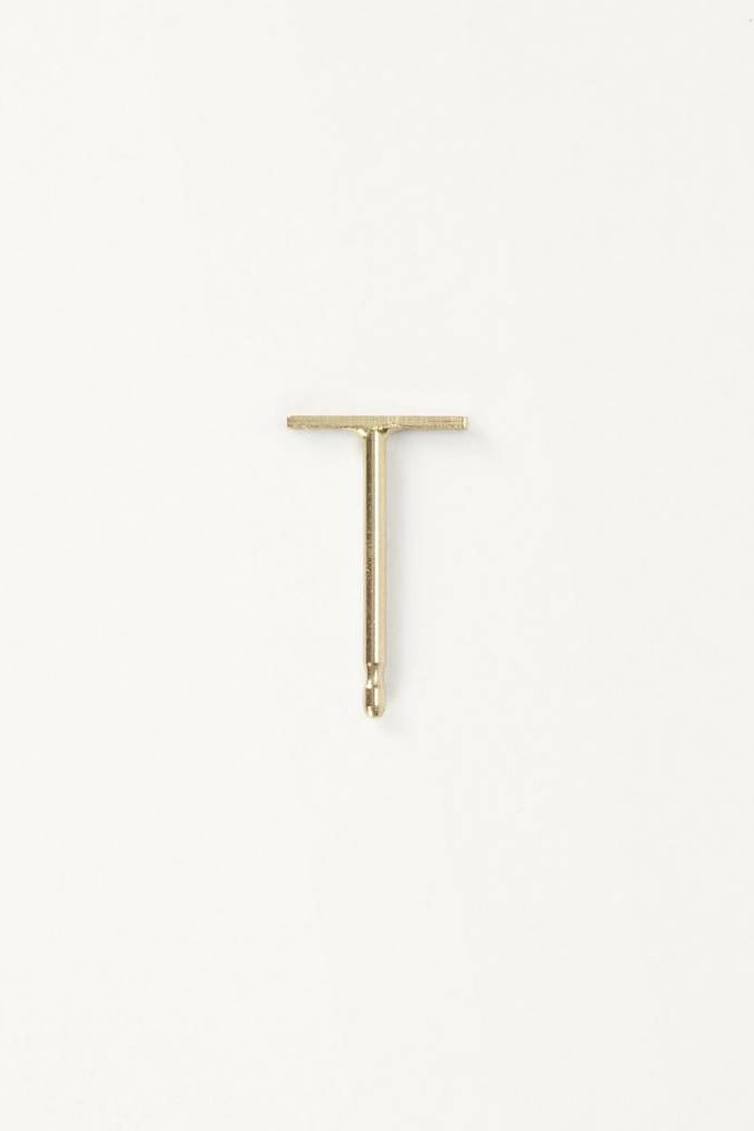 Kathleen Whitaker Staple Stud 14KT Gold