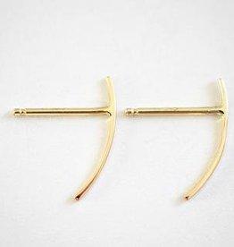 Kristen Elspeth Small Thread Arc Demi Hoop