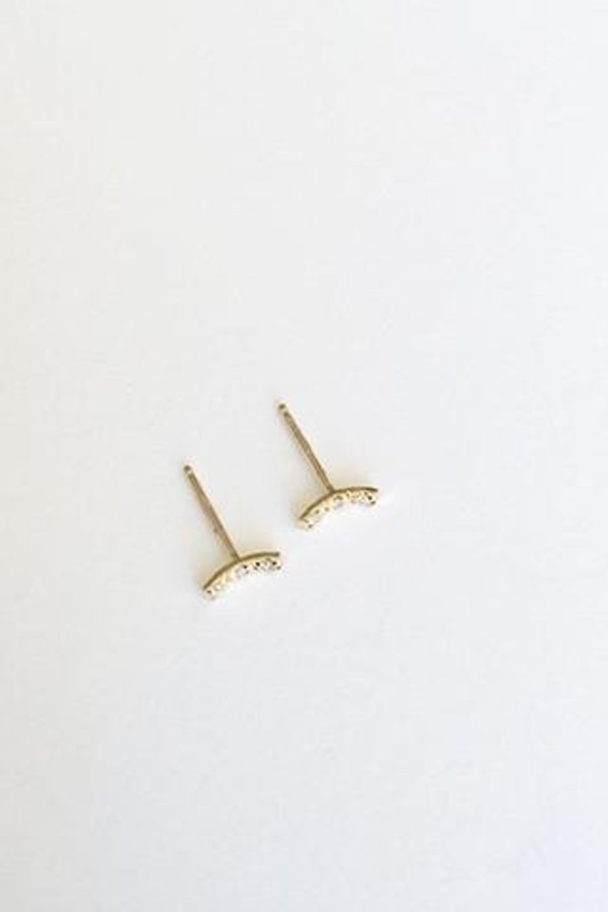 Kristen Elspeth Tiny Pave Moon Stud